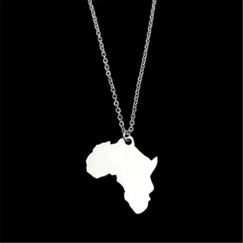 Neue Mode Halskette Afrika Nigeria Guatemala Tennessee Alabama Zustand Hohe Qualität Edelstahl Karte Halskette Frauen Geschenke