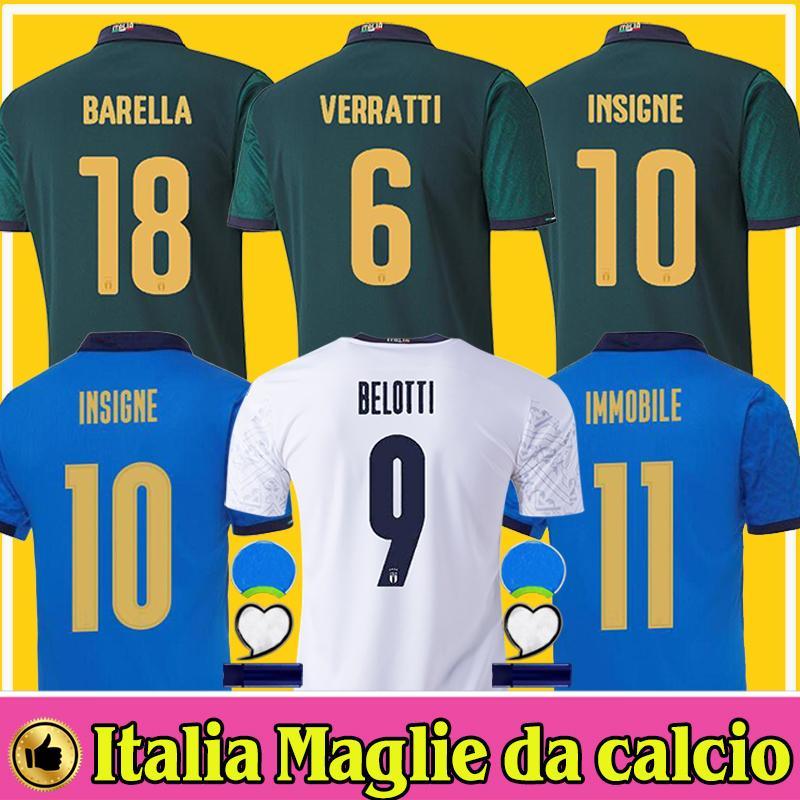 2020 2021 Itália BARELLA SENSI INSIGNE Soccer Jersey 20 21 CHIELLINI BELOTTI Italia Maglie da calcio BERNARDESCHI FOOTBALL SHIRTS homens crianças Italy Jerseys