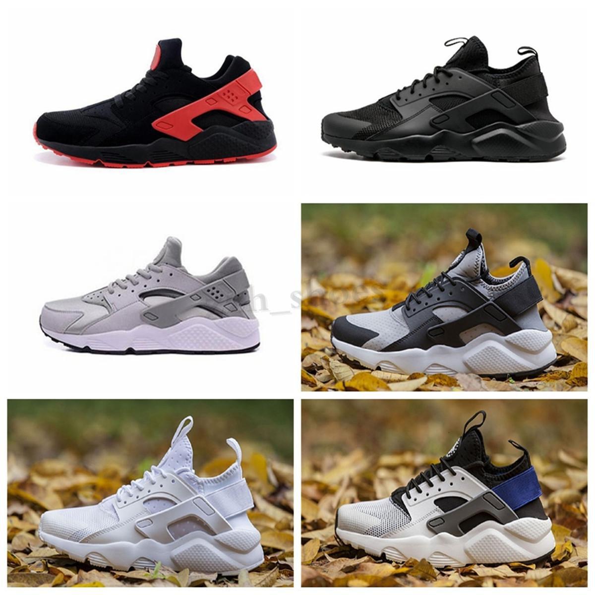 NIKE Air Huarache Run Ultra 4 Yeni HUARACHES 1.0 4.0 Açık Yürüyüş Yürüyüş Ayakkabı Erkekler Kadınlar Için Üçlü Beyaz Siyah Kırmızı Eğitmenler Rahat Ayakkabılar Boyutu 36-45 PR07