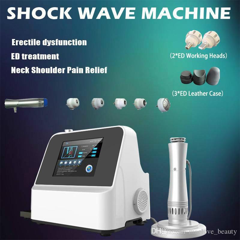 Sistema de terapia de dor física eficaz Sistema acústico onda de choque extracorpóreo máquina de terapia de ondas de choque para o alívio da dor