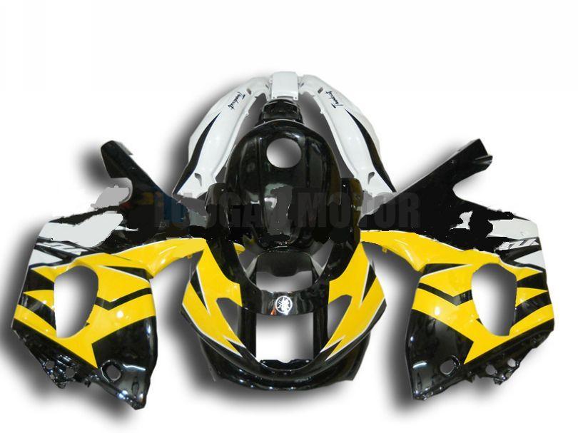 Пользовательские оформление мотоциклов для желтого белого черного Yamaha YZF600R 1997 1998 1999 2000 2001 2002 2003 2004 2005 2006 2007 YZF 600R Кузов