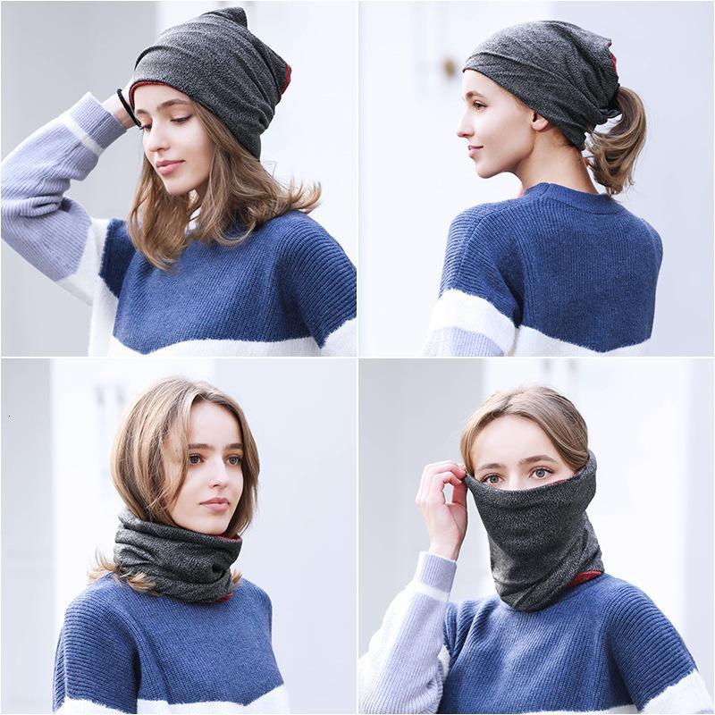 Kadın erkek ve Spor Bisiklet Örme Şapka Güz / Kış 2020 Çok Fonksiyonlu Boyun Kapak Yüz Maskesi Headdress