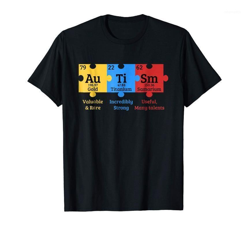 Impression des hommes T-shirts Intégration Sensibilisation Puzzle Été Coton High-Elastic Coton Funny Marque Vêtements Personnalisé Top