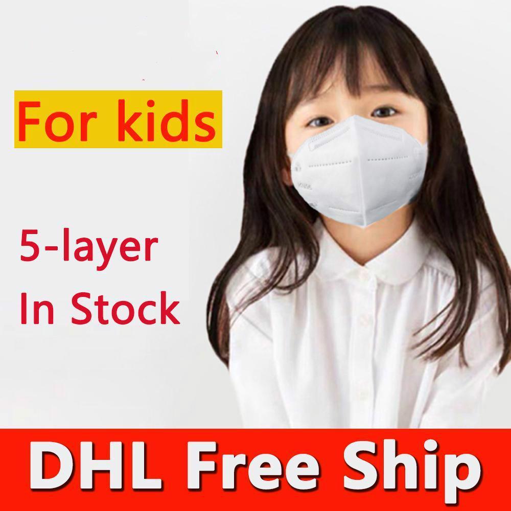 Tek Kullanımlık Çocuk Maskeleri Toz Geçirmez Yüz Maskeleri Filtre Filtrasyon Koruyucu Maske Ağız Kapak Çocuklar için Rüzgar Geçirmez