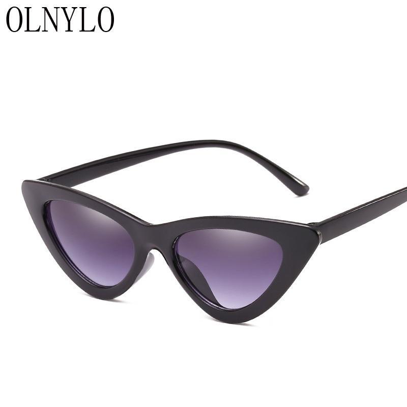 New Sexy Lady Sunglasses Fashion Cateye Black Brand Designer Femmina Eyeglasse Occhiali da sole Donne Donne Guida all'aperto Oculos de Sol Stati Uniti