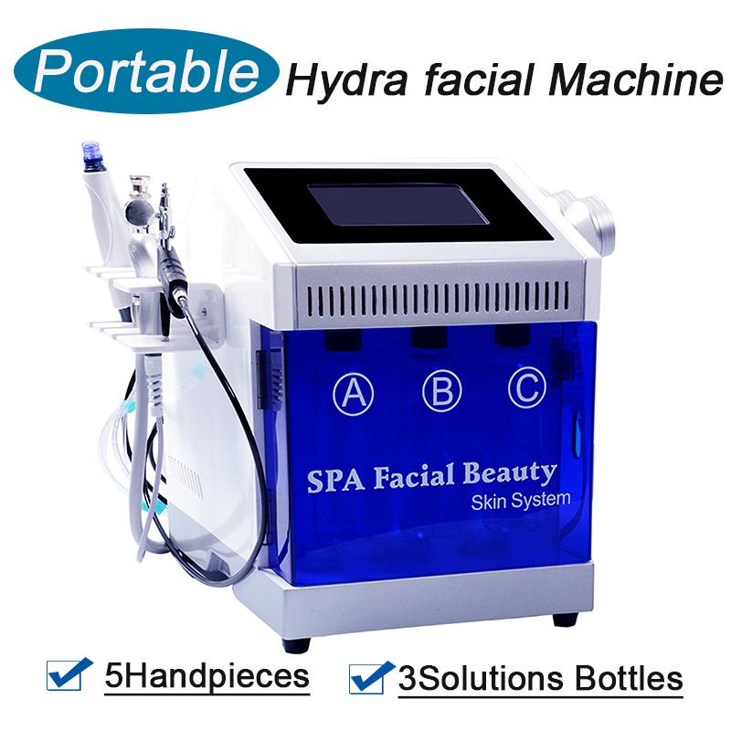 Cómoda Hidro Dermabrasion RF Bio-Lifting Spa Máquina facial Facial Limpieza Facial Peel Peel Microdermabrasión Máquina para la clínica