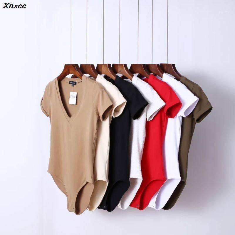 2020 v шея головы женские летние комбинезоны короткий костюм корпуса женские шорты пассуит комбинезон тела для женщин xnxee1
