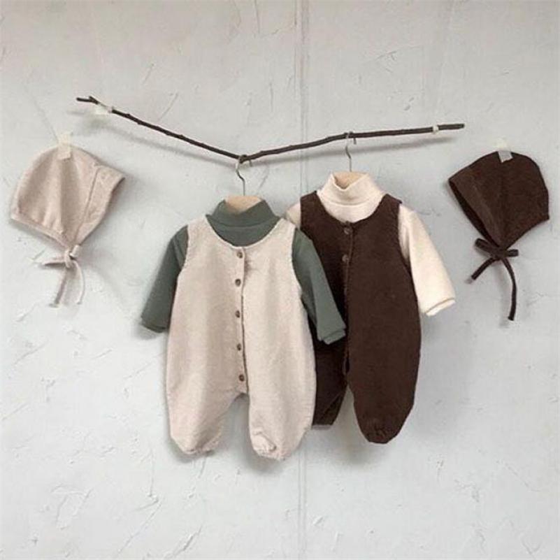 Kleinkind Jungen Jumpsuit Sleeveless Strampler Kinder Overalls Herbst Kleidung Für Baby Baumwolle Corduroy Girls Outfits 201216