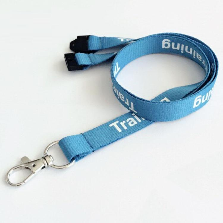 Various styles factory directly woven lanyards Cheap silkscreen printing lanyard jacquard lanyards with logo