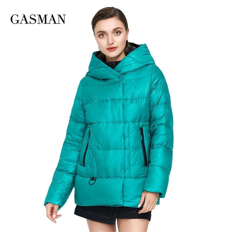 GASMAN Women's winter jacket hooded down parka Women's coat zipper warm outwear Female fashion thick puffer jacket new 072 201211