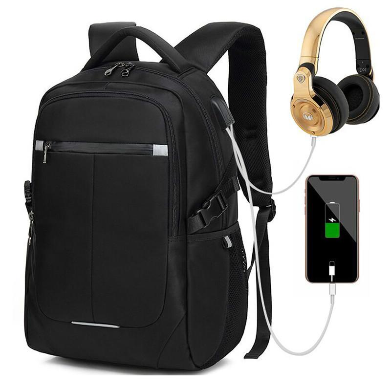 USB-Ladegerät Bagpack-Reflektierende Laptop-Rucksack für Frauen Männer Schultasche für Jugendliche Junge männliche Reise Mochila