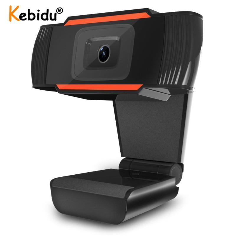 Plug N Воспроизведение USB WebCam Mini Computer PC Веб-камера с микрофоном Rotatable Cameras для Live Confervact Video Calling Conference