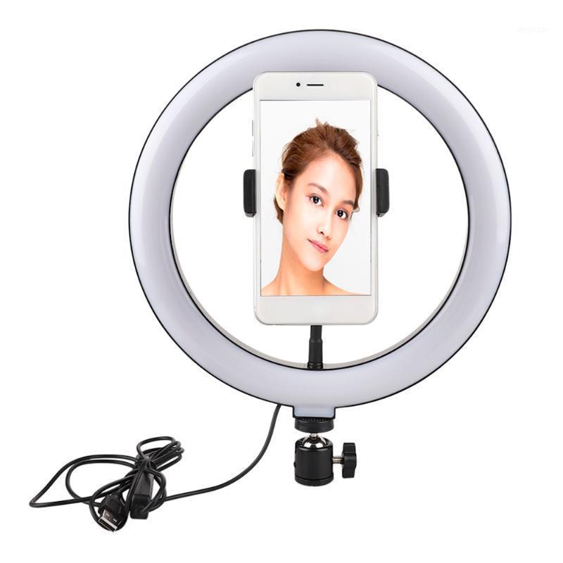 Photo de 10 pulgadas LED Selfie Anillo Trípode LED LED Luz de anillo LED para teléfono YouTube Video Cámara de estudio Fabricie Lámpara con lámpara USB1