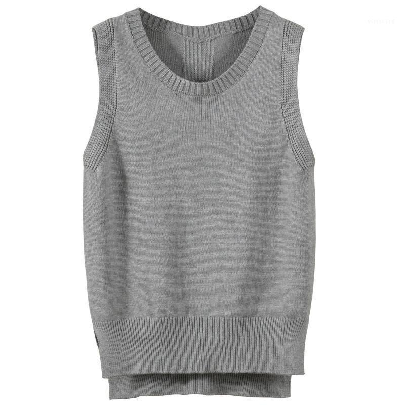 Maglioni da donna 2021 Primavera coreana autunno autunno maglia maglia maglione donna senza maniche pullover allentato M - XXL Plus Size Top Lady PZ13991