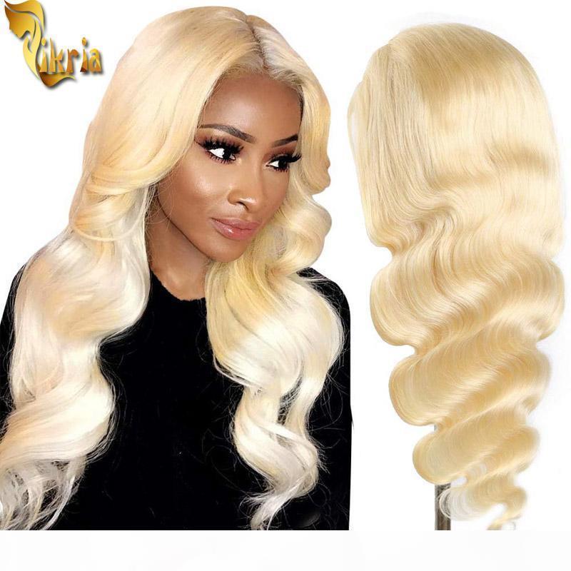 # 613 блондинка кузовной волна кружева передний парик полные кружева волосы человека парик 8 ~ 20 дюймов предварительно сорванные натуральные волосы бразильские девственные волосы для чернокожих женщин