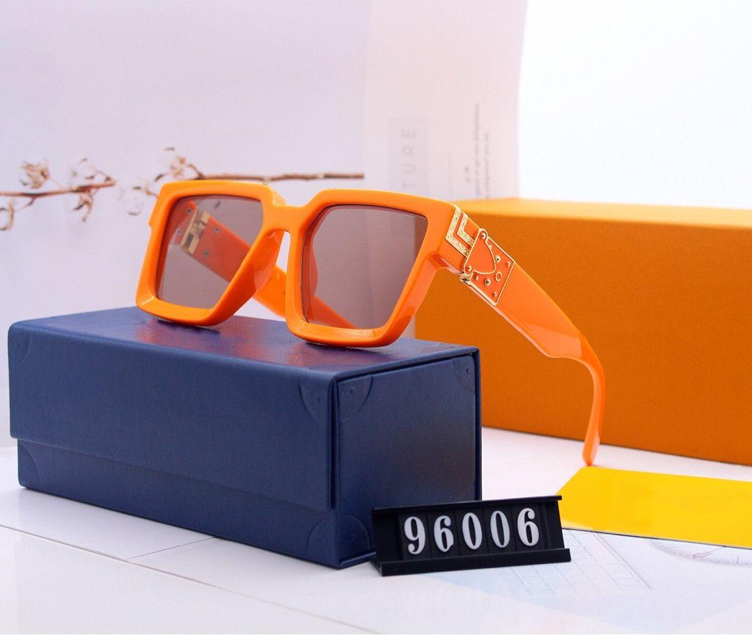 뜨거운 백만장 자의 Sunglases 남자 여성 전체 프레임 빈티지 디자이너 백만장 자의 1.1 선글라스 남자 백만장 검은 만든 이탈리아에서 만든