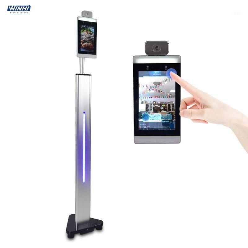"""Sistema de reconhecimento facial Touchless 8 """"Dispositivo térmico AI Face Corpo Temperatura Measuring Camera Kiosk1"""