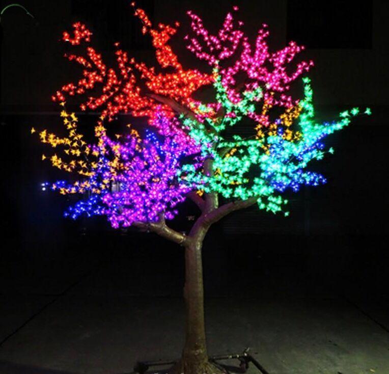 Açık LED Yapay Kiraz Çiçeği Ağacı Işık Noel Ağacı Lambası 3456 adet Leds 9.8ft / 3 M Yükseklik 110VAC / 220VAC Yağmur Geçirmez Damla Nakliye