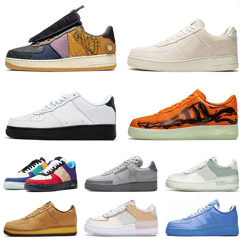 Homens Mulheres Correndo Sapatos Cacto Jack MCA Laranja Esqueleto Bege Sombra N.354 Todos os Treinadores de Sneakers Black White Branco
