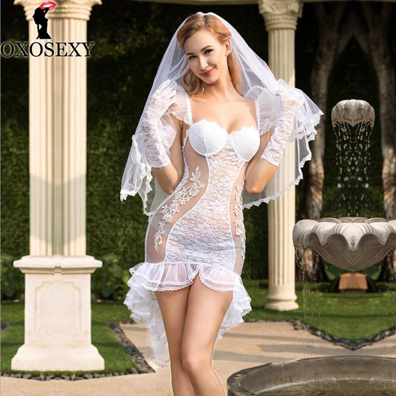 الأبيض العروس سهرة تنورة الزفاف المثيرة اللباس + الحجاب + قفازات الطفل دمية الملابس الداخلية بيبي دول تأثيري ازياء مثير 292
