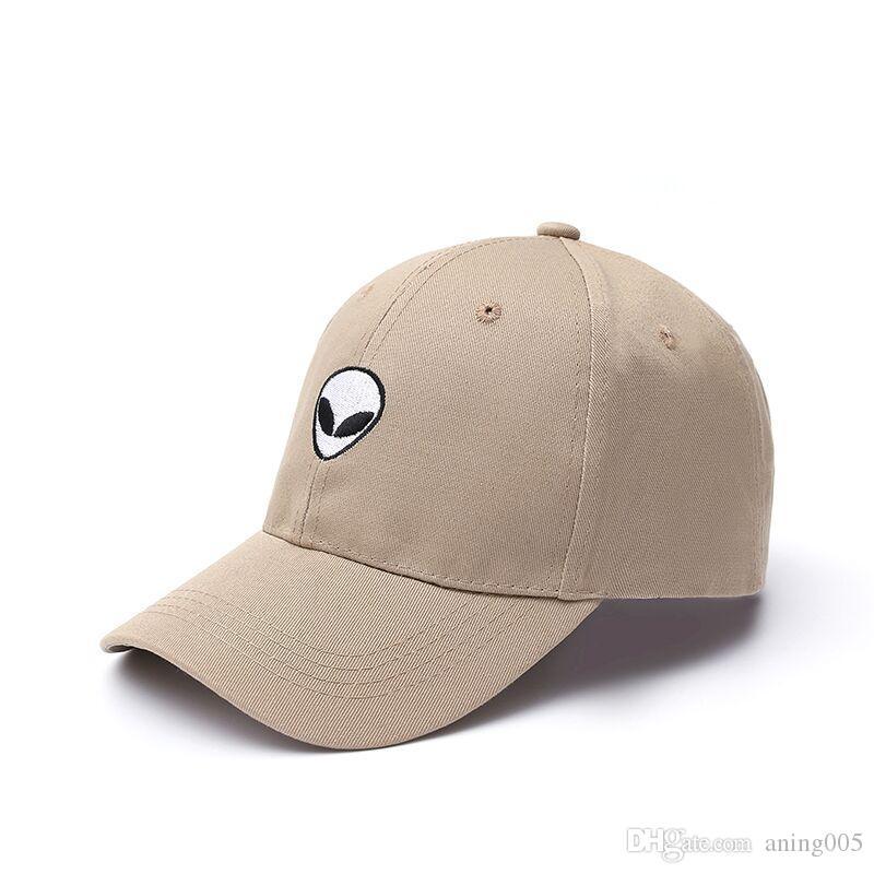 En iyi Yeni Moda Yabancılar Snapback Kap Outstar Saucer Uzay E.T UFO Hayranları Siyah Kumaş Beyzbol Şapkası Erkek Kadınlar Için Hip Hop Şapka Baba Şapka