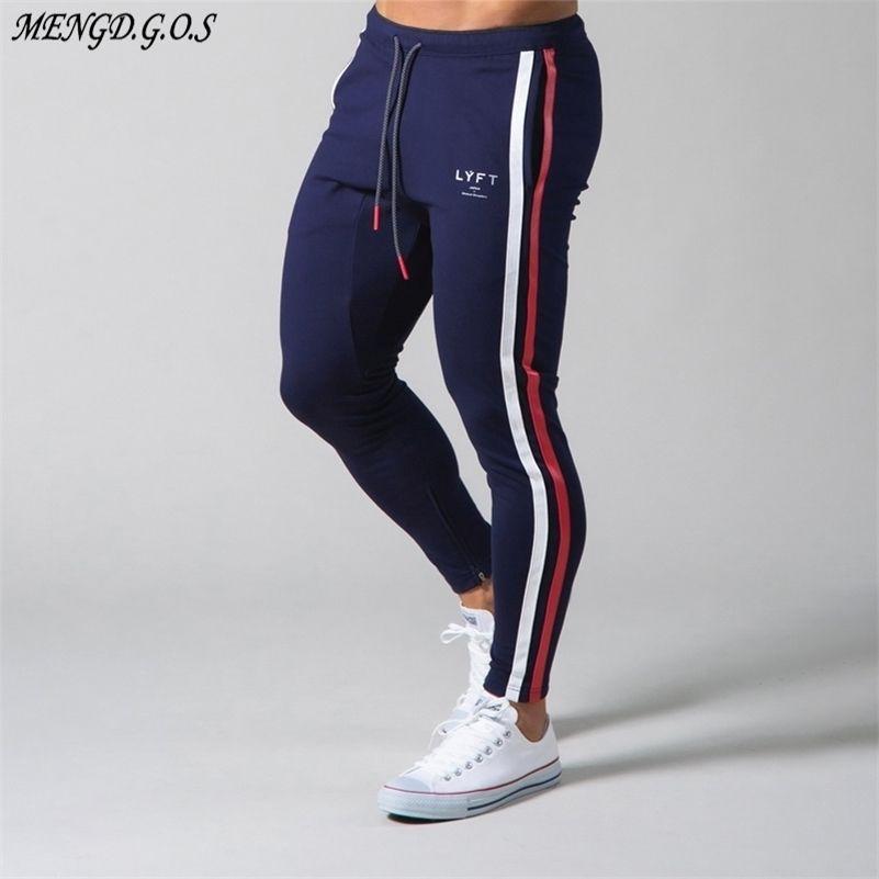 Streetwear Casual Vêtements Jogger Bodybuilding Pantalons Fashion Imprimé Coton Gym Fitness Homme Swewings 201217