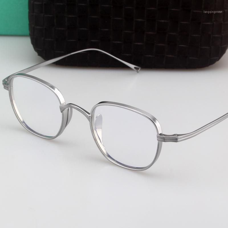 Zerosun Titanium Brillenrahmen Männer Frauen 10.4g Nerd Gläser Männliche Ultraleiche Brille Dicke Seitenrand für optische Eyewear1