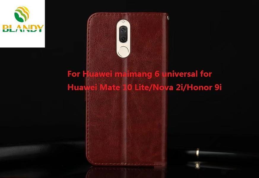Per Huawei Maimang 6 Mate 10 Lite Nova 2i onore 9i Crazy Horse in pelle TPU Portafoglio per Huawei Honor 7x V9 Play