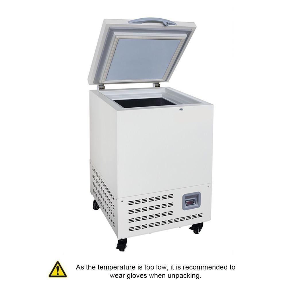 Zoibkd -80 ° C Горизонтальная ультра-низкая температура Лабораторная лабораторная морозильная камера Холодильник 60L Глубокий холодильник с ControlLer Используемый 110V / 220V