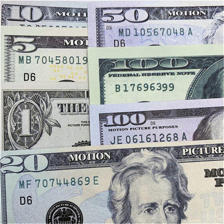 Simulieren von Papier Geld Bar Atmosphäre Requisiten Fälschung Geld US-Währung Dollar Spiel Währung Kinder Lernen PAPION Währung Geld A1