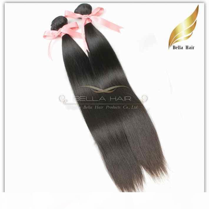 Bakire Perulu Saç Remy İnsan Saç Uzatma Düz Saç Örgü 3 adetgrup Doğal Renk Sınıf 9A 10-24 inç Çift Atkı