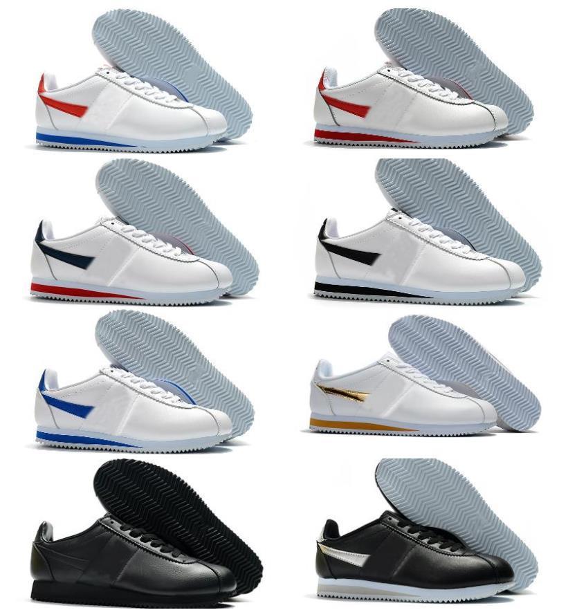2021 Klasik Cortez Naylon RM Koşu Ayakkabıları Pembe Siyah Kırmızı Beyaz Mavi Hafif Run Ucuz Chaussures Cortez Deri BT QS Sneakers TN Ayakkabı