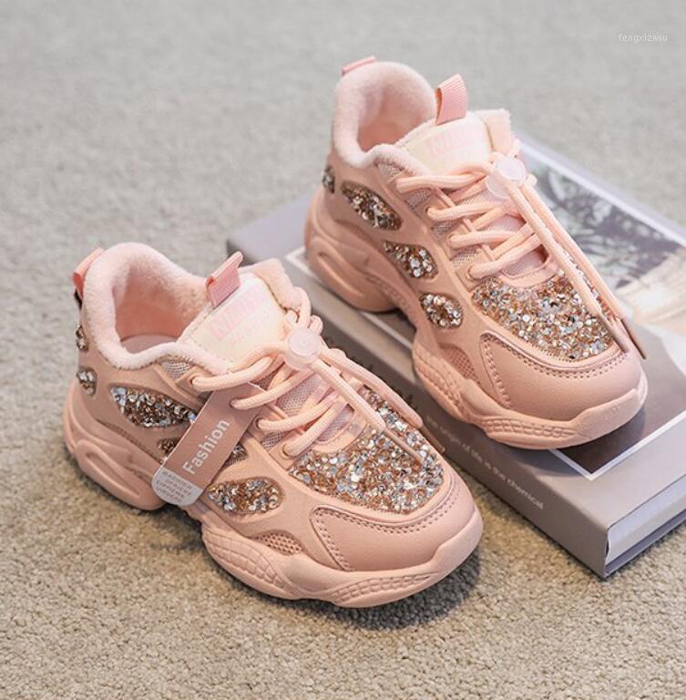 2020 outono inverno crianças esporte sapatos respirável pelúcia meninos morno meninos gilrs tênis luz suave com peles ao ar livre crianças correndo sapatos1