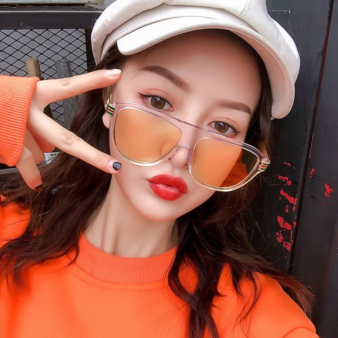 2021 جديد أعلى جودة 0587 رجل نظارات الرجال نظارات الشمس مزاجه النساء النظارات الشمسية نمط الأزياء يحمي العينين مع مربع