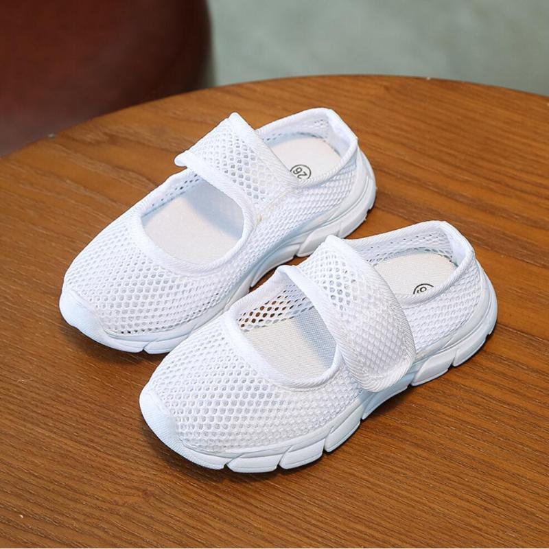 Koovan Дети сетки кроссовки 2020 Candy Color Летняя дышащая одна чистая ткань детская спортивная обувь случайные мальчики девушки обувь