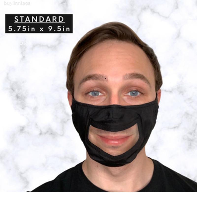 Sichtbare Munddesigner Baumwolle Gesichtsabdeckung Maske Wiederverwendbare waschbare Masken mit Haustierfenster Erwachsene Gehörlose Harte Hörverstellbare Ohrschleife