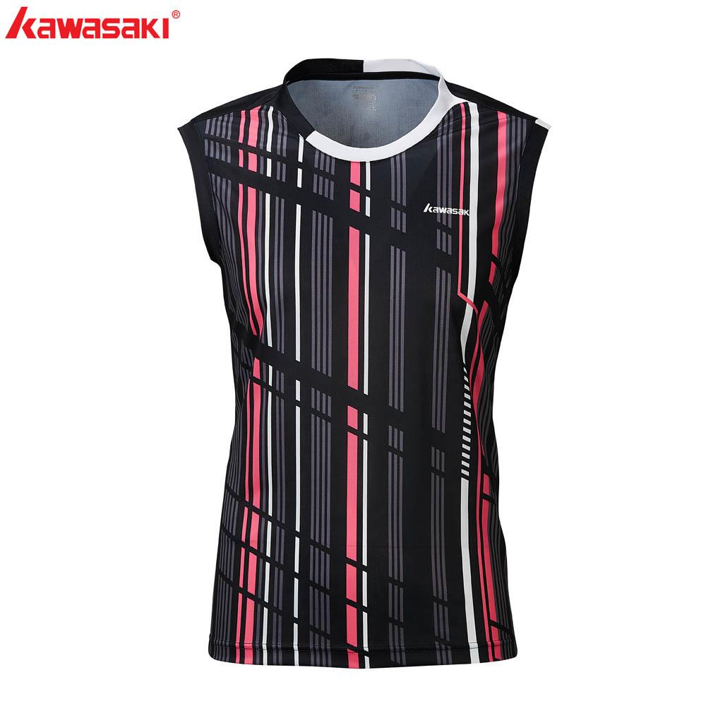 2020 Kawasaki Badminton Camiseta Homens Roupa Camisa de Desporto V-Neck Sem Mangas Respirável Tênis T-shirts para Masculino St-R1207 Q1121