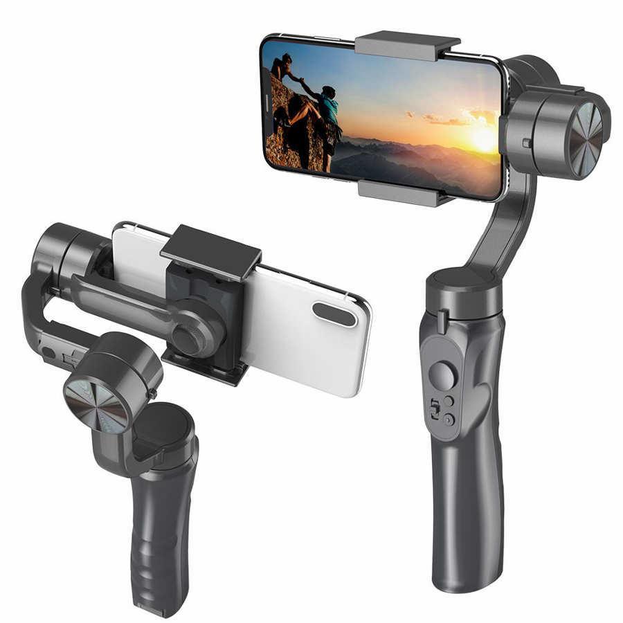 3-Axis يده gimbal المثبت الهاتف المحمول ptz كاميرا مكافحة يهز جيروسكوب كاميرا فيديو الإلكترونية الهاتف الذكي المثبت