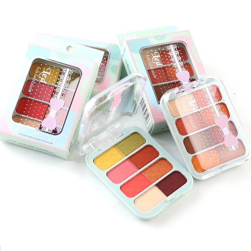 8 cores profissionais mulheres olhos sombra maquiagem fosco shimmer abóbora cor paleta de sombra de longa duração cosmética coreana tslm1