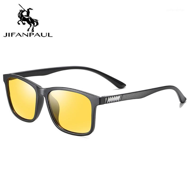 Солнцезащитные очки Jifanpaul поляризованные ретро вождения очки мода классический анти ультрафиолетовый и синий свет головокружение мужские очки1