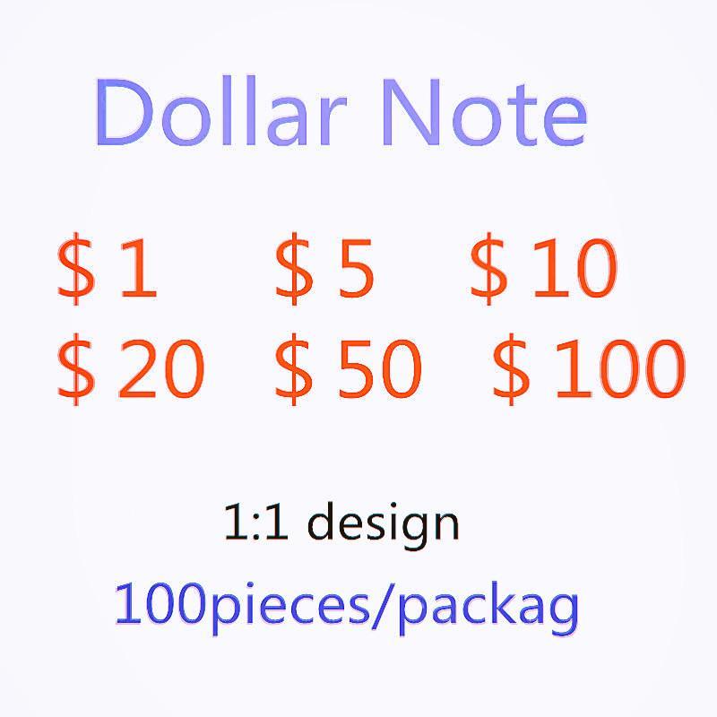Dollar Bills Fake 753 Party Toys Fábrica de fábrica Tokens Fast Ventas Bills UPS Direct of Games Simulation PWBWB IRAKC