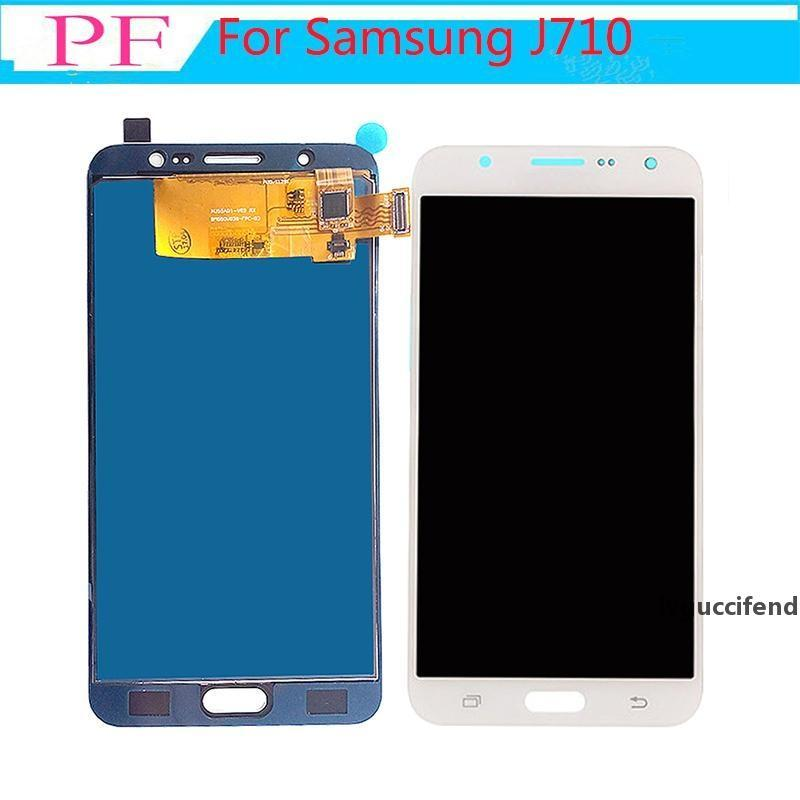 2pcs para Samsung Galaxy J7 2016 Exibir J710 J710F J710M J710H J710FN LCD Display Digitalizador Tela Touch para Samsung J7 2016 LCD
