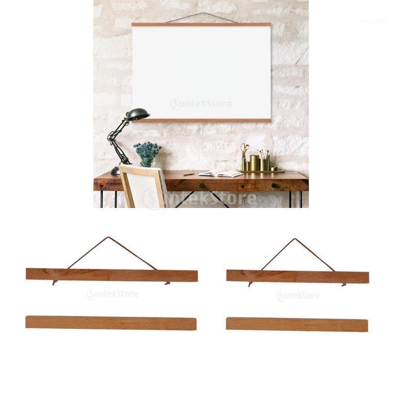 2pcs imán de madera marco de madera DIY póster Pintura Perching Ramin Wood 21 cm + 30cm1