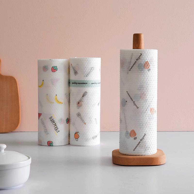 Reutilizáveis panos preguiçosos toalhas de bambu molhados e secos para lavar roupa de cozinha toalha de mão rolos orgânicos de lavagem de louça orgânica