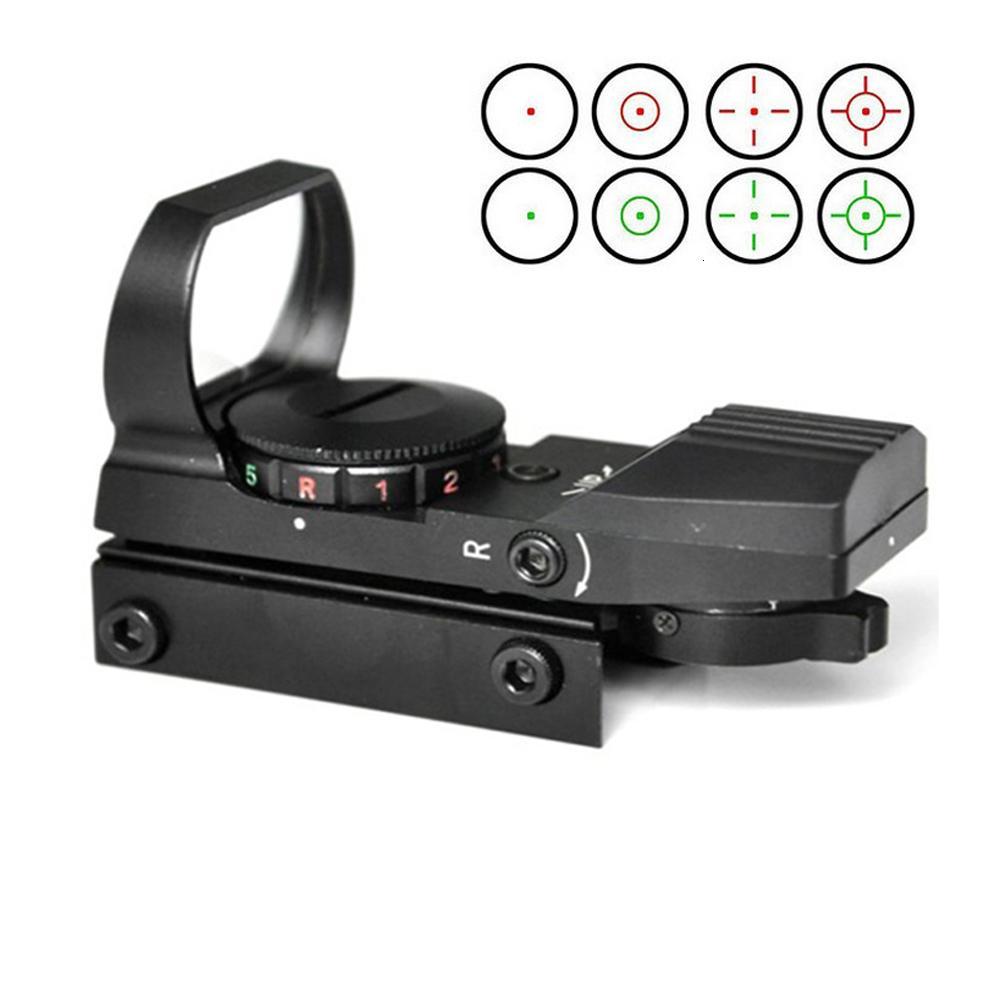 Alliage d'aluminium de haute qualité Tactical Red Green Dot View avec 4 réticules 5 Mode de luminosité 20mm Mount de rail Picatinny.