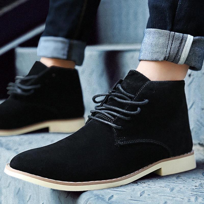 Marca Hombre Alto Top Zapatos Casuales Matte Cuero Oxford Oxford Hombres Formales Zapatos Tamaño Grande 46 Calzado Caminata Azul Punto de cabeza Ocio # QR6N