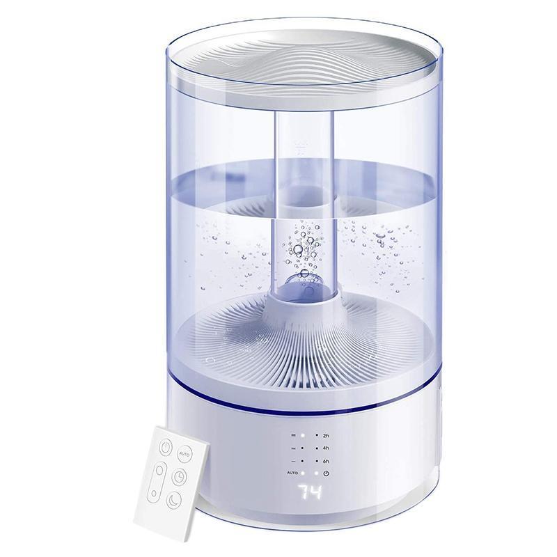 6L humidificadores ultrasónicos Difusor de aceite esencial Difusor de aire humidificador con control remoto LED pantalla automáticamente apague el modo automático