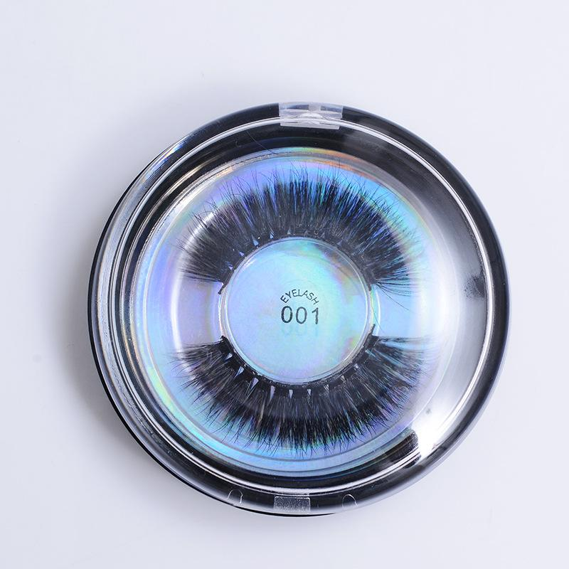 28 스타일 밍크 속눈썹 3D 실크 단백질 가짜 속눈썹 오래 지속되는 자연 눈 속눈썹 둥근 상자 포장
