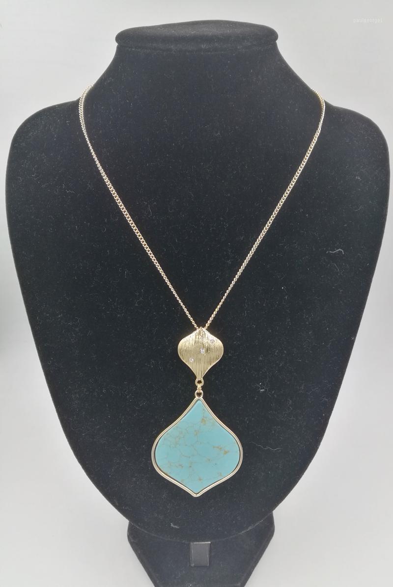 Gourde Form Stein Kleine Kürbis Metall Anhänger Halskette Für Frauen Geschenk Modeschmuck Großhandel1