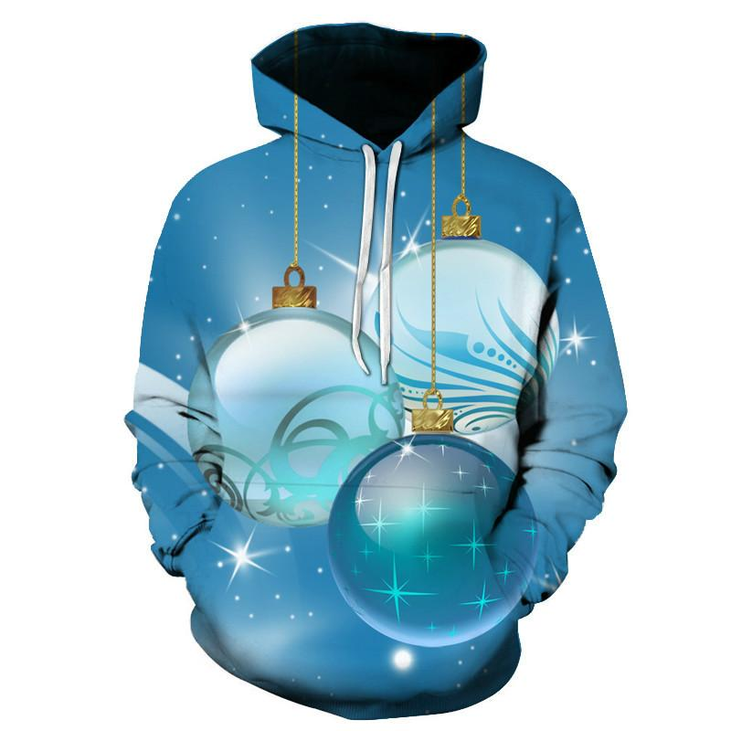 Hoodie 3D одежда с капюшоном рождественские мужчины 2020 напечатанные новые моды снеговик толстовка тема пуловер мальчик подарок svqnr